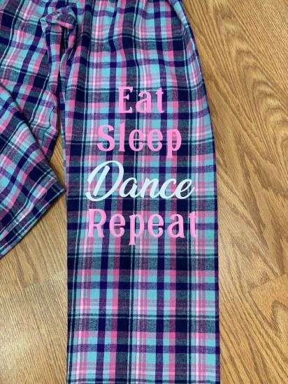 MAK Eat Sleep Dance Repeat Pajama Pants YF20 12-14 MAL