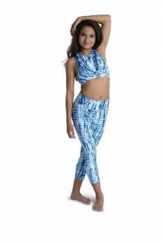 Danshuz Tie Dye Leggings 20402C 12-14 BLU/W