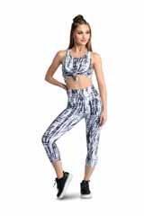 Danshuz Tie Dye Leggings 20402A XSM BLK/W