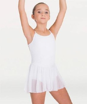 Body Wrappers Camisole Skirted Leotard BW 2061 8-10 BLK