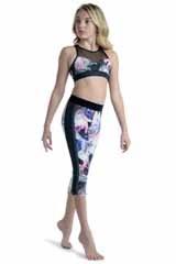 Danshuz Rose Print Pants 21400C 6-7 BLK