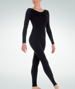 Body Wrappers Long Sleeve Unitard MT217 XSM BLK