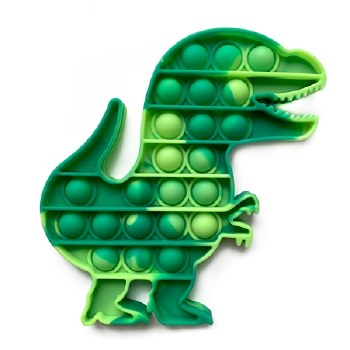 Top Trenz OMG Pop Fidgety Dinosaur POP DINOV2 O/S GREEN