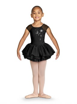 Bloch Cap Sleeve Tutu Leotard CL4910 4-6 BLK