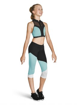 Bloch Capri Leggings FP5208C 6-7 BRD
