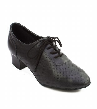 "So Danca 1.5 "" Wide Heel Leather Ballroom Shoe SD BL54 BLK 6.5"