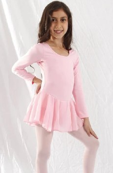 Basic Moves Girls' Long Sleeve Dress 9079GU 2-4 PNK