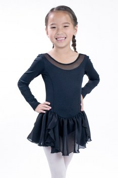 Basic Moves Long Sleeve Skirted Leotard 9448HK 2-4 BLK