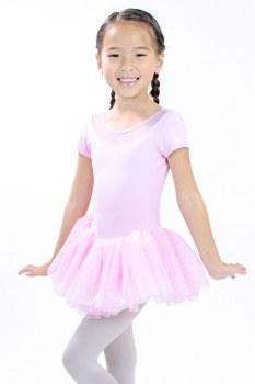 Basic Moves Short Sleeve Skirted Leotard 9449HK 2-4 BLK