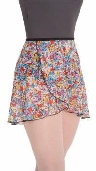 Body Wrappers Chiffon Printed Skirt 980 M/L FFL