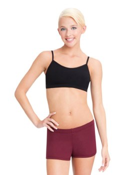Capezio Lined Cami Bra Top with Adjustable Straps TB102 XSM BLK