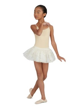 Capezio Cami Leo w/ Clear Transition Straps 3532C 6-7 NUD