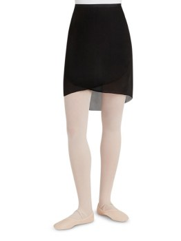 Capezio Long Wrap Skirt N276 P/S BLK