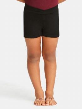 Capezio Boy Shorts CC600C 6-7 BLK