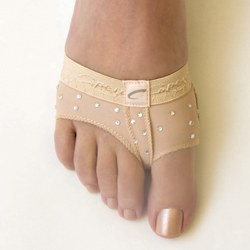 Capezio Rhinestone FootUndeez Lyrical/Modern Shoe H07R PET NUD