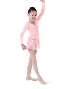 Bloch Long Sleeve Skirted Leotard CL5309 2-4 LPK