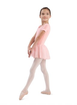 Bloch Short Sleeve Skirted Leotard CL5342 2-4 LPK