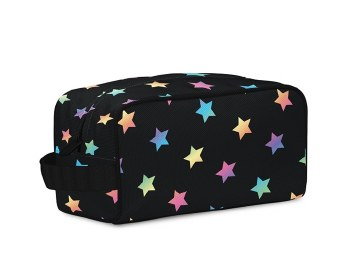 Top Trenz Multi Star Canvas Cosmetic Bag COS4-MULTISTAR O/S BLK