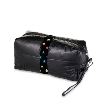 Top Trenz Puffer Cosmetic Bag COSM-PUFSCATTER O/S BLK