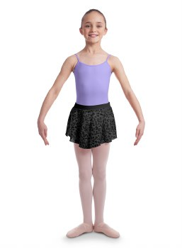 Bloch Animal Printed Skirt CR6511 4-6 BLK