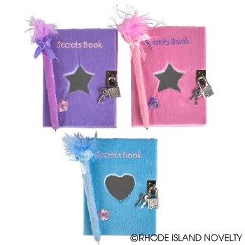 Toy Network Plush Covered Secret Diary ST-DIARY O/S BLU