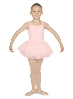 Mirella Cami Skirted Leotard M1074C 6-7 LPK