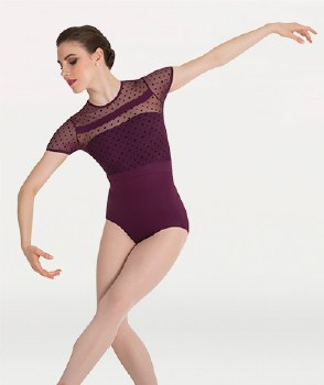 Body Wrappers CapSleeve Leotard P1044 LG BLK
