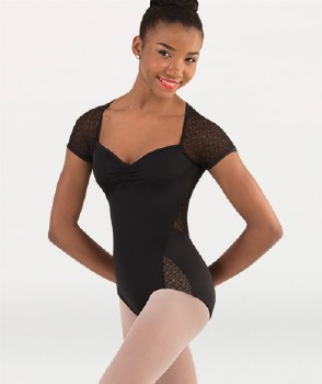 Body Wrappers Cap Sleeve Leotard P1240 XS BLK