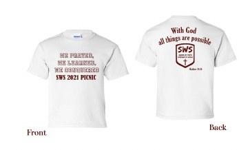 SWS 2021 Picnic Shirt SWS PICNIC21 ADULT SM WHT