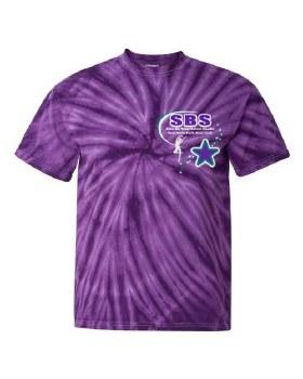 Cyclone Tie Dye T-Shirt SBS 200CY SM PUR