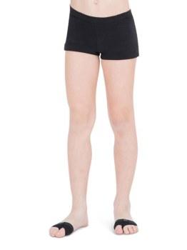 Capezio Boy Cut Low Rise Shorts TB113C 4-6 BLK
