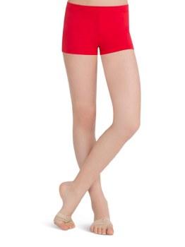Capezio Boy Cut Low Rise Shorts TB113C 4-6 RED