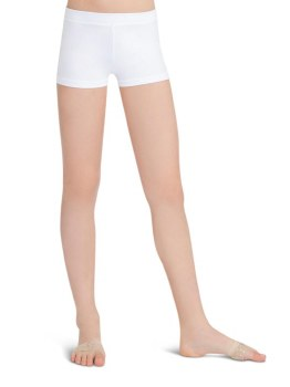 Capezio Boy Cut Low Rise Shorts TB113C 4-6 WHT