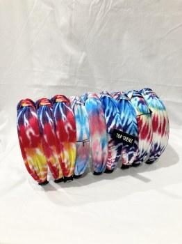 Top Trenz Tie Dye Knot Headband KNOTHB4 O/S TIEDY