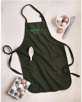 World Chef Apron Q4350 WC O/S BLK