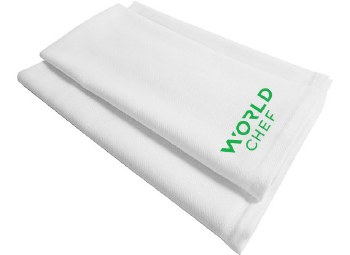 Herringbone Towel W77 WC O/S WHT