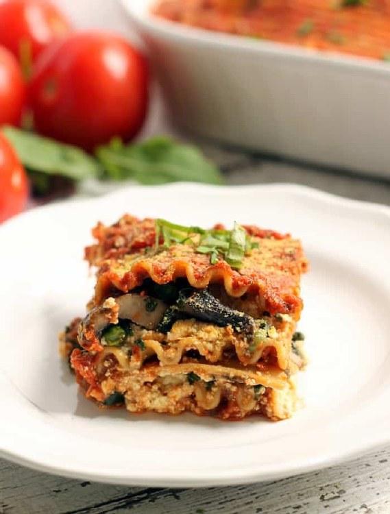 Lasagna Organic Mixed Vegetable (Tray 8 slice) VEGAN