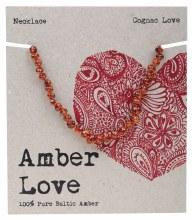 Children's Necklace Baltic Amber - Cognac Love 33cm