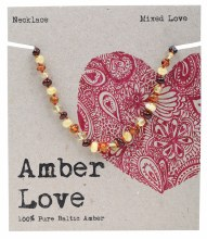 Children's Necklace Baltic Amber - Mixed Love 33cm
