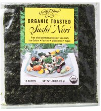Sushi Nori Organic Toasted (10 Sheets) 25g