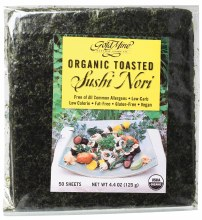Sushi Nori Organic Toasted (50 Sheets) 125g
