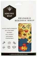 Reusable Beeswax Wrap 2 x Medium 2