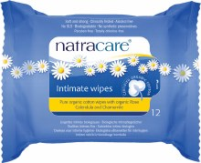 Intimate Wipes 100% Organic Cotton 12