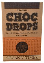 Choc Drops Milk Chocolate Couvertre Drops 200g