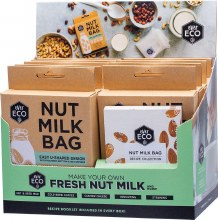 Nut Milk Bag Counter Display With Recipe Booklets
