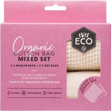Reusable Produce Bags Organic Cotton Mixed Set