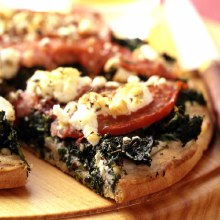 Pizza 1/2 Slab Spinach, Tomato and Fetta
