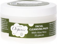 Facial Cleansing Pads With Organic Aloe Vera 30