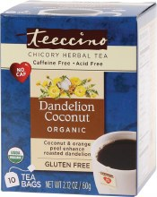 Chicory Herbal Tea Bags Dandelion Coconut 10