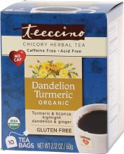 Chicory Herbal Tea Bags Dandelion Turmeric 10
